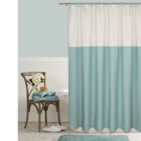 Color Block 72-Inch Square Shower Curtain in Aqua