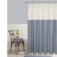 Color Block 72-Inch Square Shower Curtain in French Blue