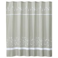 Kent Fabric Shower Curtain in Grey