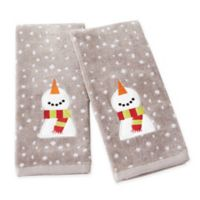 Happy Snowman Hand Towels (Set of 2)