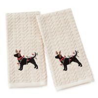 Reindeer Dog Hand Towels (Set of 2)