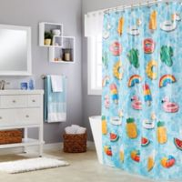Saturday Knight Floating About Multicolor Shower Curtain