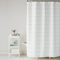Saturday Knight Colorful Dot Shower Curtain in Pink