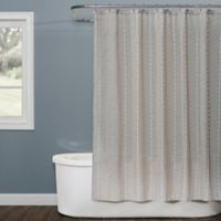 Saturday Knight Davidson Stripe Shower Curtain in Natural