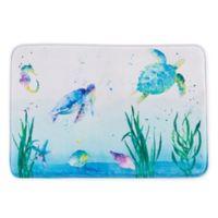"""Watercolor Ocean 30"""" x 20"""" Bath Rug"""