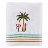 Paradise Beach Bath Towel in White