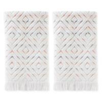 Di Di Hand Towels in Coral Pink (Set of 2)