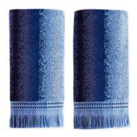 Eckhart Stripe Hand Towels in Blue (Set of 2)