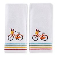 Paradise Beach Hand Towels in White (Set of 2)