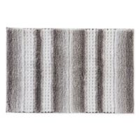 "Stripe Fade 30"" x 20"" Bath Mat in Silver"