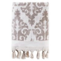 Mirage Fringe Bath Towel in Taupe