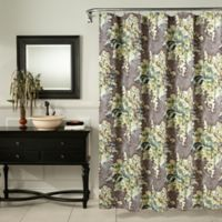 Mstyle Vintage Rose Shower Curtain In Blue