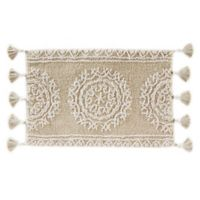 """Medallia 20"""" x 30"""" Handcrafted Bath Mat in Natural"""