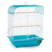 Prevue Pet Products South Beach Flat Top Bird Cage in Teal/White