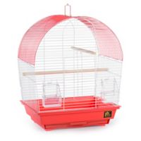 Prevue Pet Products South Beach Dome Top Bird Cage in Coral/White