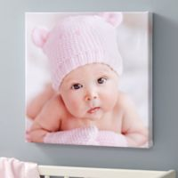 Baby Photo Memories 12-Inch Square Personalized Canvas