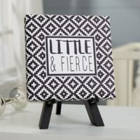 Black & White 5.5-Inch Square Personalized Baby Canvas