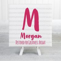 Her Name Statement 8-Inch Square Extra Small Personalized Canvas