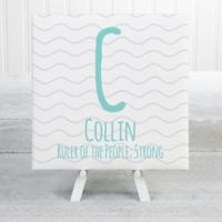 His Name Statement 8-Inch Square Extra Small Personalized Canvas