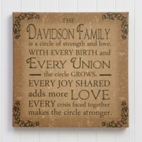 Circle Of Strength 12-Inch Square Small Personalized Canvas Print