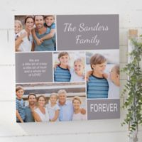 Family Love 24-Inch Square Personalized Photo Canvas