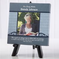 In God's Hands Memorial 5.5-Inch Square Personalized Canvas