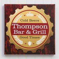 Premium Brew 12-Inch Square Personalized Bar Canvas Print