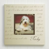 Paw Prints On Our Heart 12-Inch Square Personalized Canvas