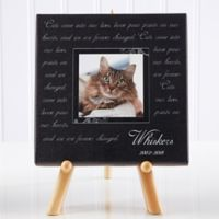Paw Prints On Our Heart 5.5-Inch Square Personalized Canvas