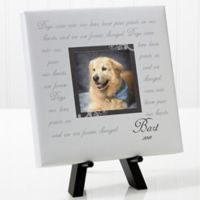 Paw Prints On Our Heart 8-Inch Square Personalized Canvas