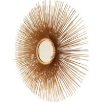 32-Inch Round Leona Wall Mirror in Light Gold