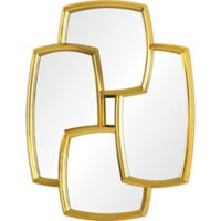 Kelston 33.5-Inch x 43.7-Inch Irregular Wall Mirror in Gold Leaf