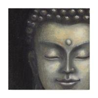 Trademark Fine Art Serene Buddha I 14-Inch Square Canvas Wall Art