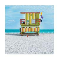 Trademark Fine Art Miami Beach 14-Inch Square Canvas Wall Art