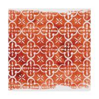 Trademark Fine Art Crimson Motif IV 14-Inch Square Canvas Wall Art