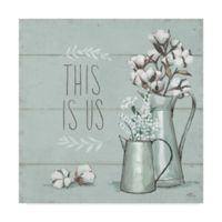 """Trademark Fine Art Blessed V Mint """"This is Us"""" 14-Inch x 14-Inch Canvas Wall Art"""