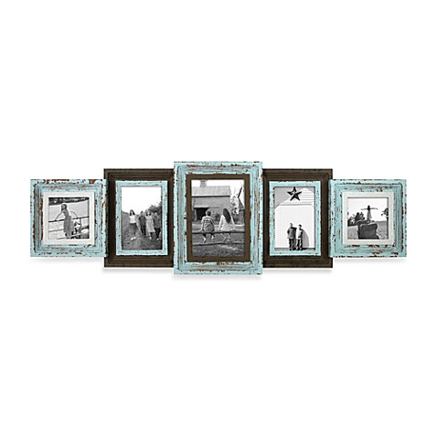 Five-Piece Distressed Collage Wall Frame - Bed Bath & Beyond