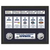NFL Dallas Cowboys Super Bowl Champions Banners and Commemorative Coin Framed Wall Art