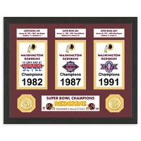 NFL Washington Redskins Super Bowl Champions Banners and Commemorative Coin Framed Wall Art