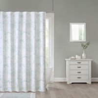 Marble 70-Inch x 84-Inch Shower Curtain in Green