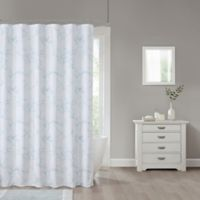 Marble 70-Inch x 84-Inch Shower Curtain in Blue