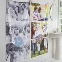 Photo Collage Monogram Personalized Bath Towel