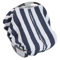 Little Unicorn Cotton Muslin Car Seat Canopy in Navy Stripe