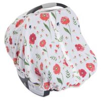 Little Unicorn Cotton Muslin Car Seat Canopy in Summer Poppy