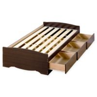 Mates Twin Platform Storage Bed with 3 Drawers in Espresso