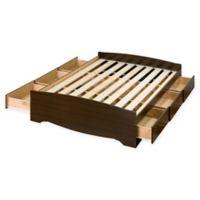 Mates Queen Platform Storage Bed with 6 Drawers in Espresso