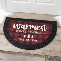 Cozy Cabin Personalized Half Round Doormat
