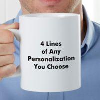You Name It PZ 30 Oz Coffee Mug