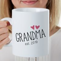 Grandparent Established Personalized 30 Oz Coffee Mug