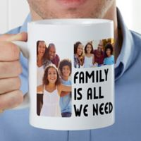5 Photos Personalized 30oz. Oversized Coffee Mug